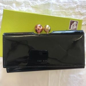 Handbags - Ted Baker black patent leather long wallet